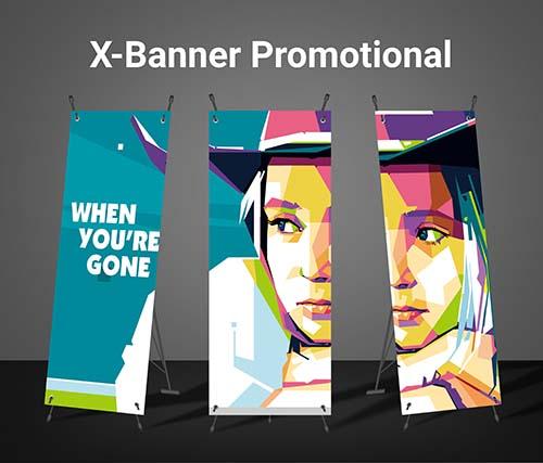 WPAP pop art untuk X-Banner