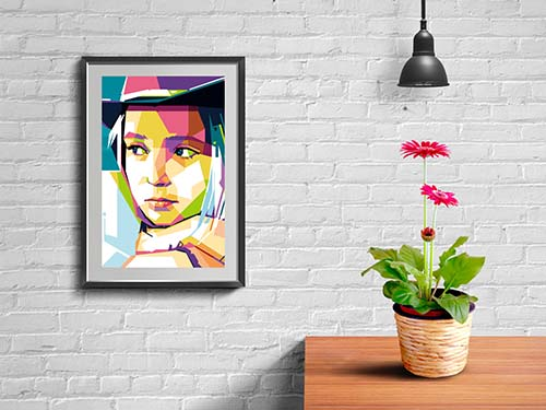 Hiasan DInding WPAP pop art